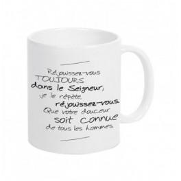 """""""Mug blanc - Phil 4:4"""""""