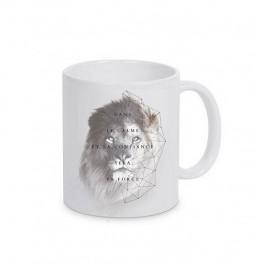 """""""MUG BLANC LION"""""""