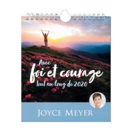 """""""Calendrier Avec Foi et Courage"""" par Joyce Meyer (lot de 10)"""