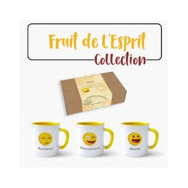 """Lot de 3 MUGS - fruit de l'Esprit"""