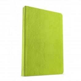 """""""Bible No 995 - souple, vert, motif feuilles"""" Esaïe 55"""