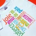 """""""T-Shirt mixte """"Fruits de l'Esprit"""" - blanc"""" Taille S"""