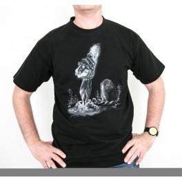 """""""T-Shirt noir mixte - Sérigraphie Jean 10"""" taille L"""