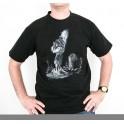 """""""T-Shirt noir mixte - Sérigraphie Jean 10"""" taille XL"""