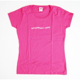 "T-Shirt rose - ""Wonderfully made"" taille S"