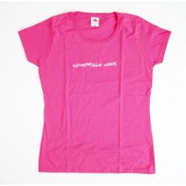 "T-Shirt rose - ""Wonderfully made"" taille M"