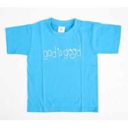 """T-shirt enfant bleu ""God is good"" taille 5-6 ans"